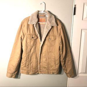 ❌ SOLD Levi's Mens Sherpa Trucker Jacket Begie
